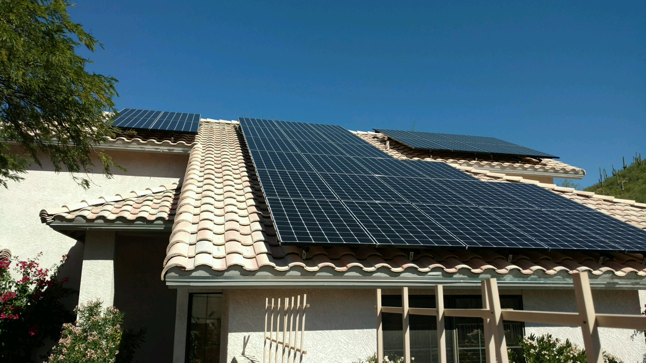 Photo of solar panels on rooftop, TOPCU green loans program